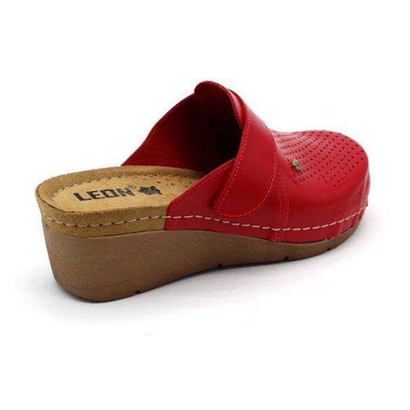 Leon Comfort női papucs - 1001 Piros