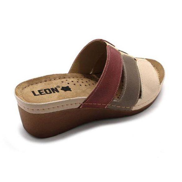 Leon Comfort női papucs - 1009 Bézs/Rózsa