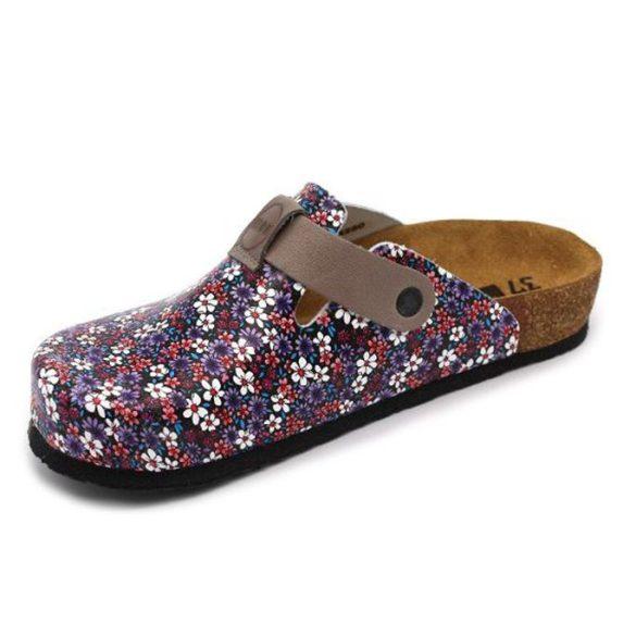 Leon Comfort női papucs - 4250 Kék-Virág