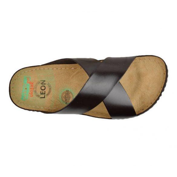 Leon Comfort férfi papucs - 705 barna