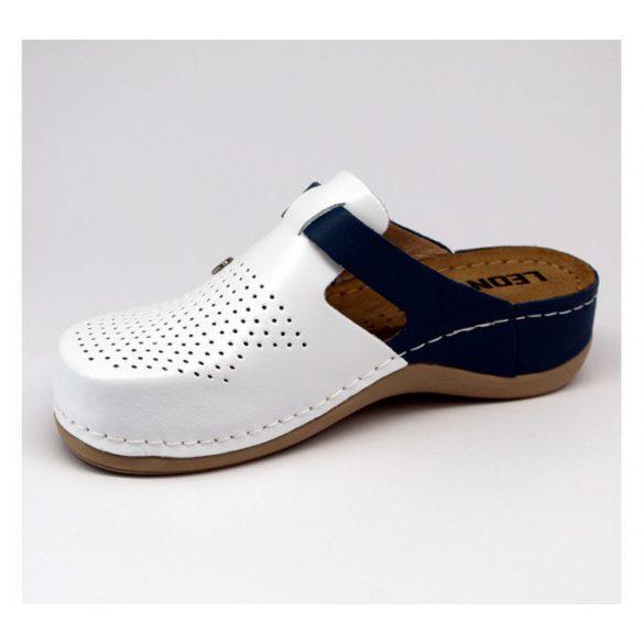 Leon Comfort női papucs - 901 Fehér/Kék