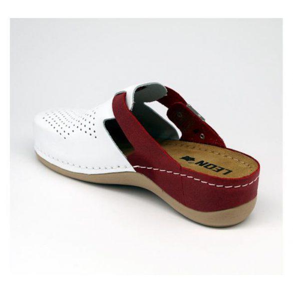 Leon Comfort női papucs - 901 Fehér/Piros
