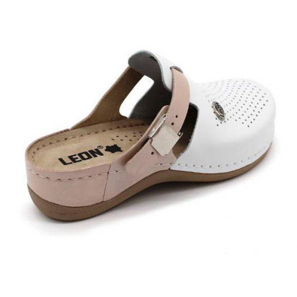Leon Comfort női papucs - 901 Fehér/Púder