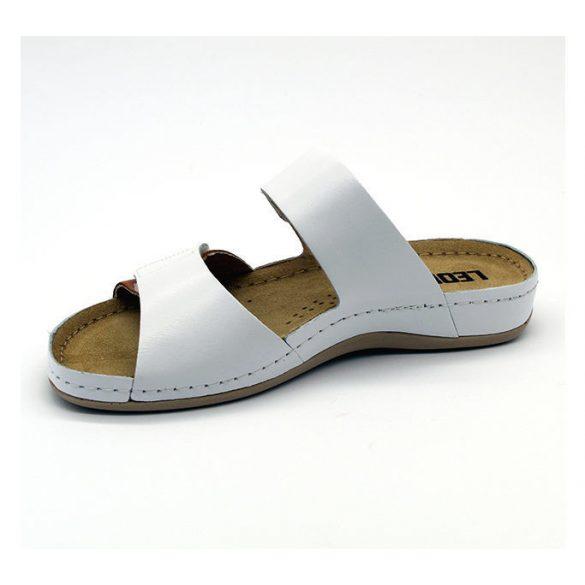 Leon Comfort női papucs - 952 White/Brown