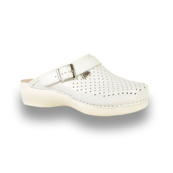 Leon Comfort női papucs - PU 101 Fehér
