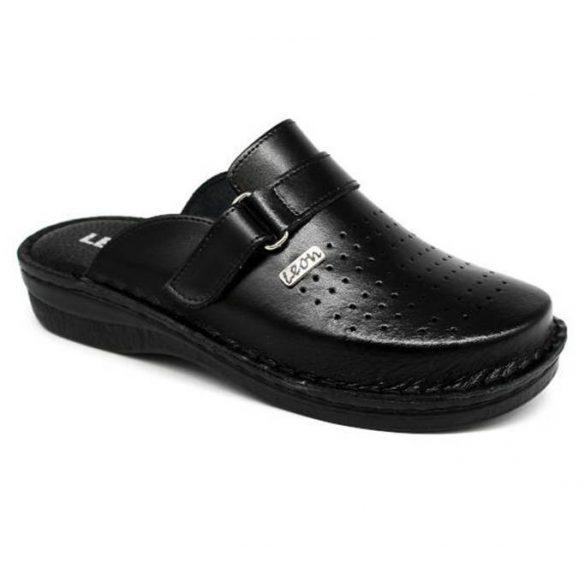 Leon Comfort férfi papucs - V230M Fekete